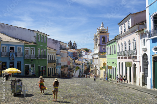 Historic City Center of Pelourinho Salvador Brazil Canvas Print