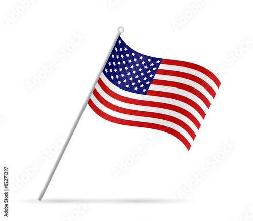 Fotografie, Obraz  USA Flag Illustration