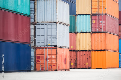 container depot Canvas Print