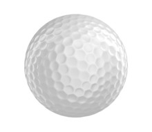 Golf Ball 3D Render Isolated O...