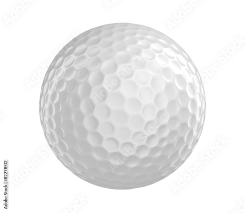 Acrylic Prints Golf Golf ball 3D render isolated on a white background