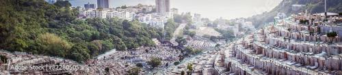 Foto op Canvas Begraafplaats Panorama ofGraveyard in Hong Kong, Asia