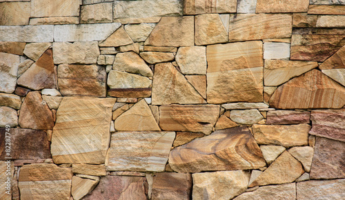 Sandstone rock wall background Canvas Print