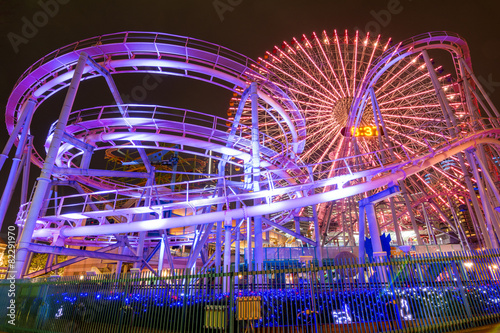 Foto op Aluminium Amusementspark 横浜・遊園地夜景