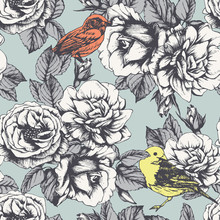 Seamless Floral Pattern With H...