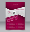 Flyer template. Business brochure. A4 poster for business.