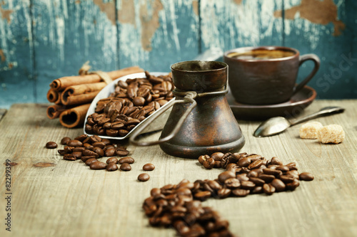 Coffee composition Fototapet