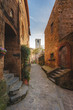 Beautiful corners and streets of the medieval small town in Lazi