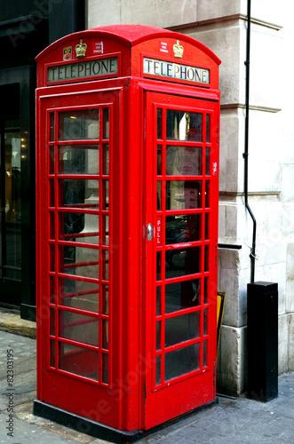 Fotografie, Obraz  cabine téléphonique