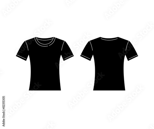 vector of women black t shirt template front and back buy this