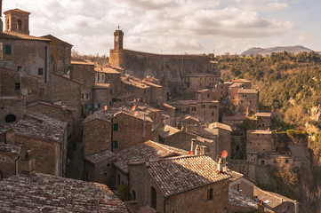 Fototapeta Beautiful medieval town in northern Tuscany, Sorano
