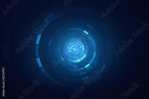 Photo  Abstract circular science fiction futuristic background