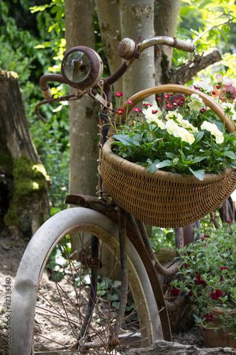 Deurstickers Fiets Vintage Fahrrad