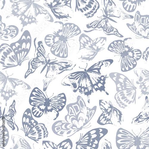 Photo sur Aluminium Papillons dans Grunge Butterfly Pattern