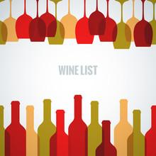 Wine Glass Bottle Art Background