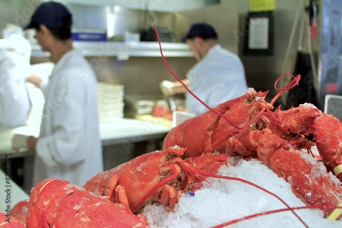 Photo  Fresh lobster at Chelsea Market New York