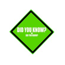 DID YOU KNOW  White Stamp Text On Green Background