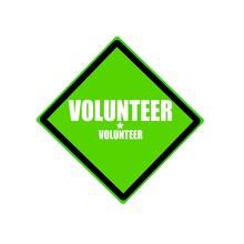 Volunteer White Stamp Text On ...