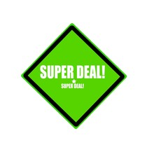 Super Deal White Stamp Text On...