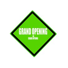 Grand Opening White Stamp Text...