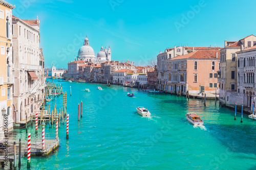 Stickers pour portes Venise Grand Canal in Venice, Italy with vintage filtered