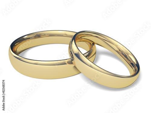 Fotomural  Wedding. 3D. Wedding Bands 1