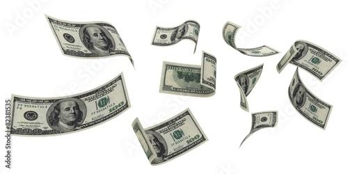 Fotografie, Obraz  Currency. 3D. Falling Money II