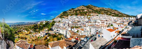 Fotografie, Obraz Panorama of white village of Mijas. Spain