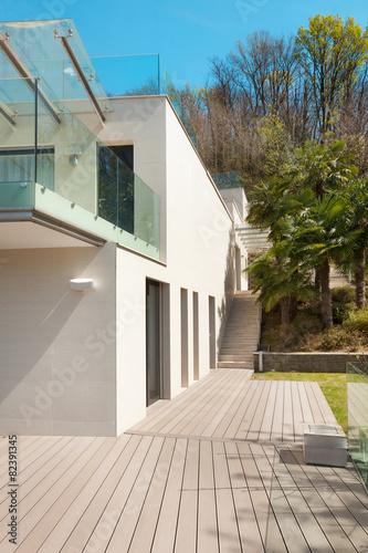 Fototapeta architecture, white house, outdoor obraz na płótnie