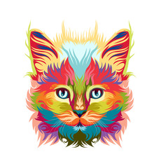 Fototapetapersian cat vector