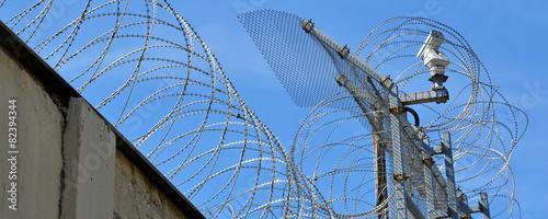 Fotografia gefängnis, stacheldraht, kerker
