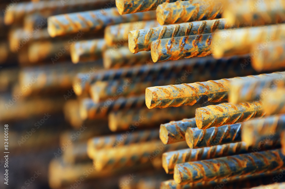 Fototapeta construction metallic bars