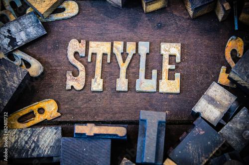 Fototapety, obrazy: Style Concept Rusty Type