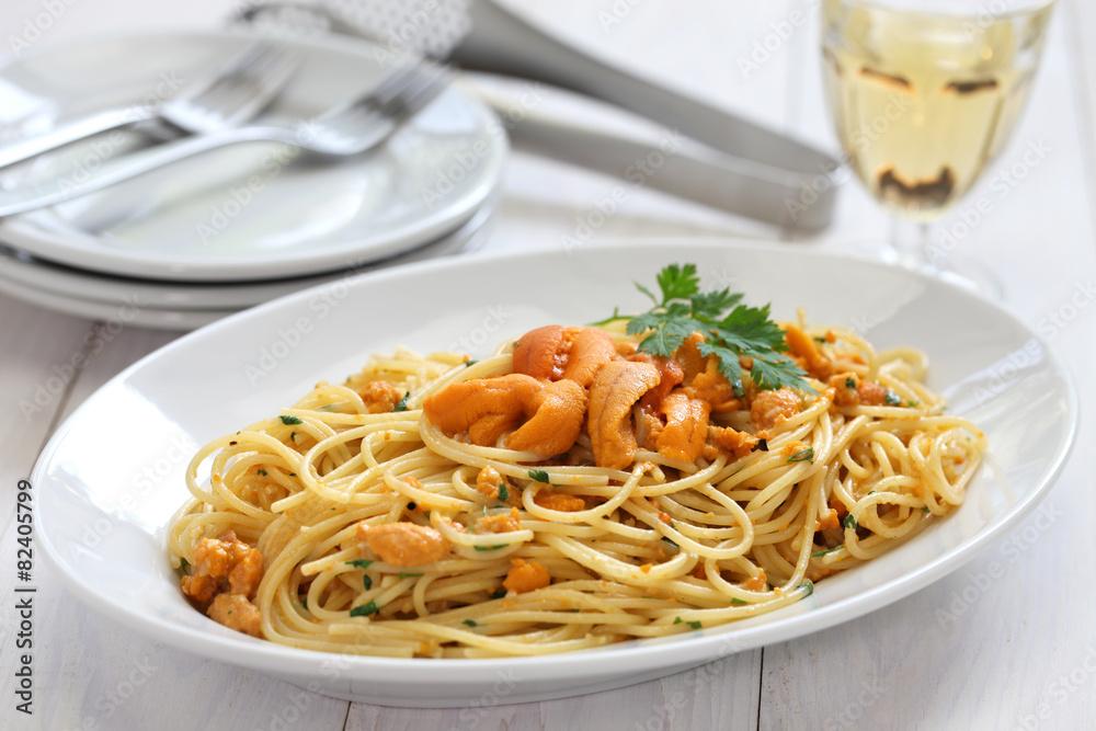 Obraz Pcv Makaron Z Ikrą Jeżowca Kuchnia Włoska