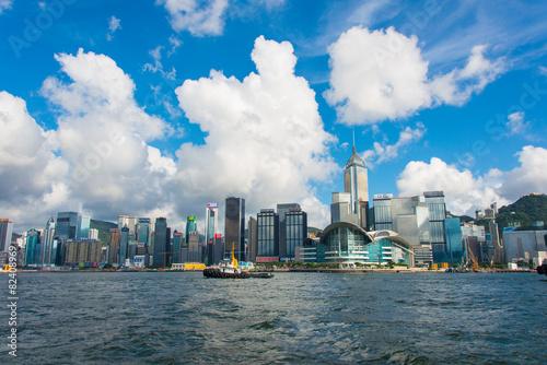 Photo  Hong Kong - JULY 27, 2014: Hong Kong skyline on July 27 in China
