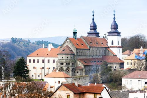 Fotobehang Oost Europa St. Procopius Basilica, Trebic, Czech Republic