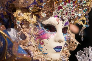 Panel Szklany Podświetlane Wenecja Carnevale a Venezia