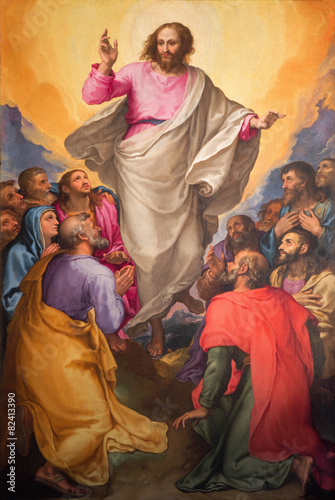 Rome - Ascension of the Lord painting in church Chiesa Nuova Poster