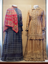 Russian Traditional Women's Clothing Of The 19th Century