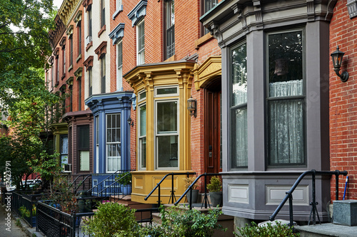 Photo colorful apartments