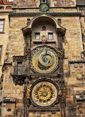 Staande foto Praag Prague Astronomical Clock or the Prague Orloj.