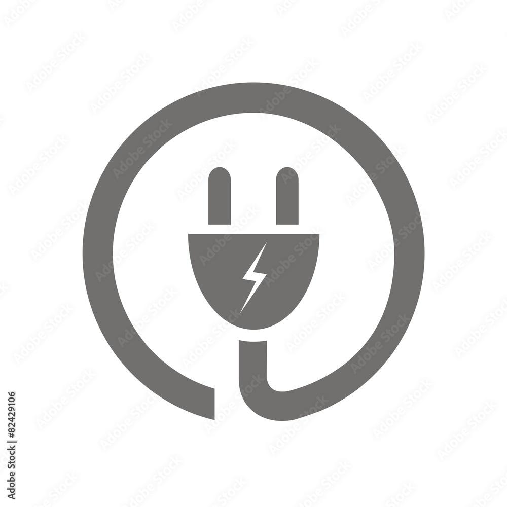 Fotografiet  Icono enchufe eléctrico circular FB