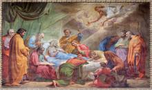 Rome - Dormition Of Virgin Mary Fresco - San Augustine Church