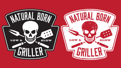 FototapetaBarbecue vector design with clean and grunge versions