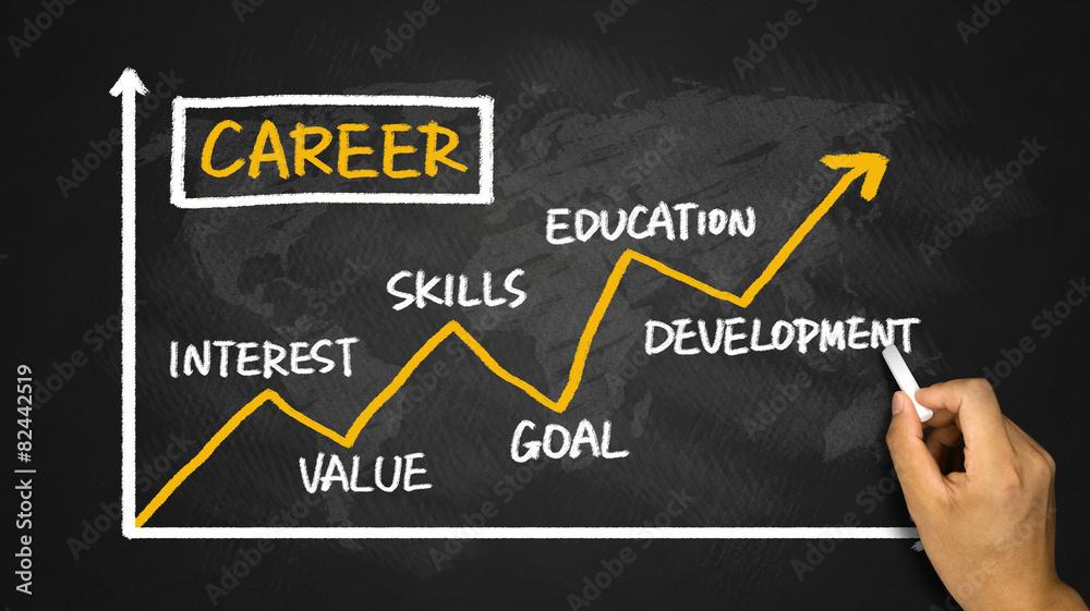 Obraz career development chart fototapeta, plakat