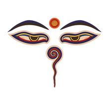 Buddha Eyes  Of The Nepal