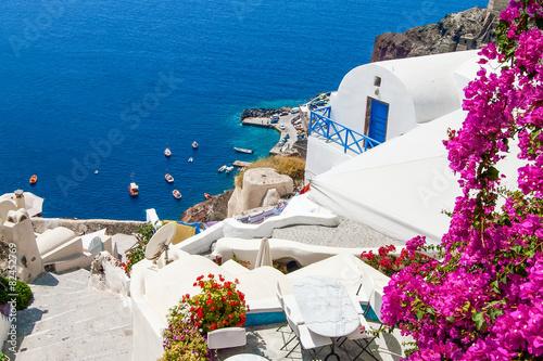 Papiers peints Santorini Classic Santorini scene , Greece