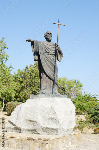 Foto op Canvas Monument Monument of Holy Apostle Andrew in Chersonesos, Crimea.