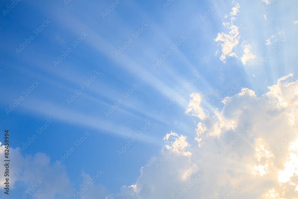 Fototapety, obrazy: Beam of light and the clouds
