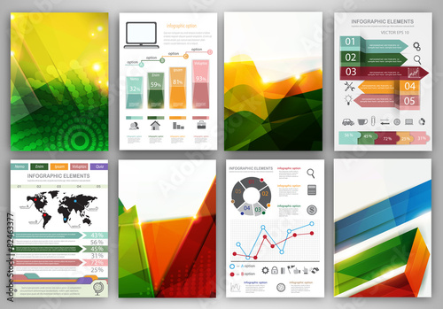 Fototapeta Infographic icons and abstract backgrounds obraz